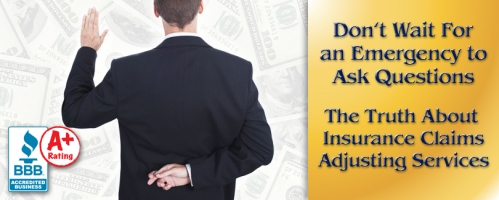 Truth about insurance claims adjusting